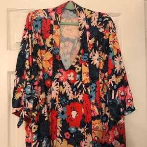 Modcloth Flower Patterned Blouse